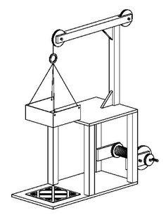 Es el croquis de un montacargas. Me parece interesante porque podría ser un posible proyecto para el taller de tecnología.