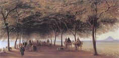 The Pyramids Road, Gizah , 1873 \\ Edward Lear (1812-1888) - English artist and poet