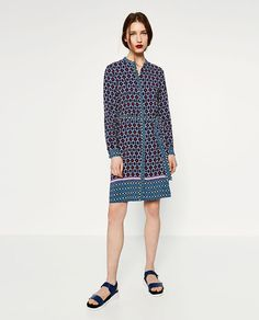 Image 1 of CONTRAST PRINT TUNIC from Zara