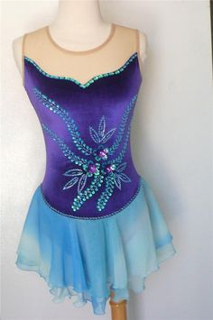 KIM Competition Ice Skating Dress Dance Adult Medium #Kim