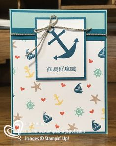 Stampin' with Lisa: Paper Pumpkin Pop Up Blog Hop: You Are My Anchor