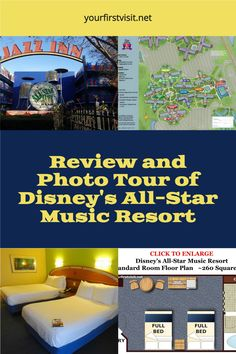 Disney World Resorts | Click thru for a Detailed Review, Floor Plan, Tips, and Photo Tour of Disney's All-Star Music Resort from yourfirstvisit.net | #DisneyWorldResorts #DisneysAllStarMusicResort #DisneyWorldTips Disney World Deals, Disney World Secrets, Disney Hotels, Disney World Planning, Walt Disney World Vacations, Disney World Tips And Tricks, Disney Tips, Orlando Theme Parks, Orlando Resorts
