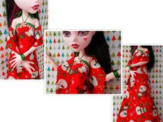 Doll Christmas Snowman Dress 17 Inch Monster by FAIRLYGHOULISH
