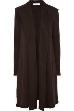 Hooded cotton-blend cardigan by T by Alexander Wang ---- really cute. have in brown