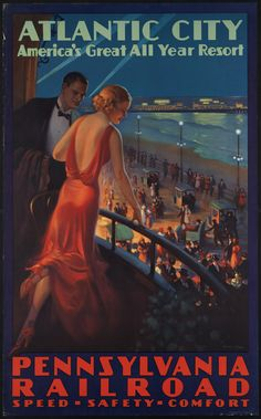 Vintage Travel Posters - 'Atlantic City. America's great all year resort' (Edward M. Eggleston, 1910-1959 (approximate))