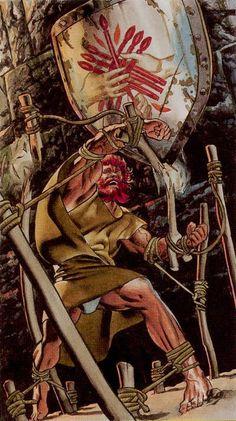 Seven of Wands - Initiatory Tarot of the Golden Dawn by Giordano Berti, Patrizio Evangelisti