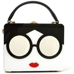 White The new small bag fashion bag woman bag box acrylic glasses... ($22) ❤ liked on Polyvore featuring bags, handbags, white satchel handbags, tote bag, satchel handbags, white satchel and satchel purses
