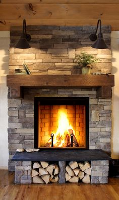New fireplace in the next house. Very efficient! ICC Renaissance ...