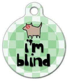 Dog Tag Art Custom Pet ID Tag for Dogs - I'm Blind - Large - 1.25 inch by Dog Tag Art, http://www.amazon.com/dp/B003WL9WB2/ref=cm_sw_r_pi_dp_xryesb1A9C3HA