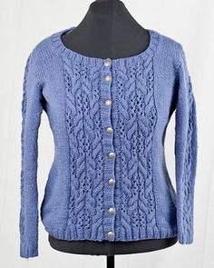 Seamless Lace and Cable Cardigan   AllFreeKnitting.com
