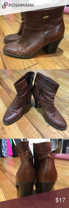 """Bandolino Boots Booties/boots in good used condition. Some scuffs, leather is broken in in some parts, overall great condition. Zippers work perfectly. About a 2-3"""" heel. Very comfortable and perfect for the fall and winter. Bandolino Shoes Ankle Boots & Booties"""