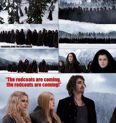 The redcoats are coming. The redcoats are coming....I almost wish that Garrett was in the entire thing!