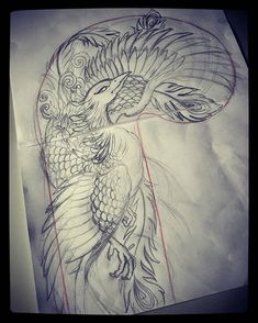I incredibly appreciate the designs, outlines, and depth. This is a brilliant layout if you want a Japanese Phoenix Tattoo, Phoenix Tattoo Men, Phoenix Tattoo Design, Japanese Tattoo Art, Japanese Sleeve Tattoos, Tatoo Art, Tattoo Drawings, Tattoo Ink, Arm Tattoo