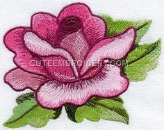 We post free embroidery designs every day. All types of free machine embroidery designs available - animal, holiday, floral, alphabets, and more! Cute Embroidery, Paper Embroidery, Learn Embroidery, Machine Embroidery Patterns, Hand Embroidery Designs, Embroidery Stitches, Flower Embroidery, Machine Applique, Applique Designs