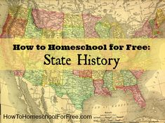 Tons of FREE resources to teach kids state history!!
