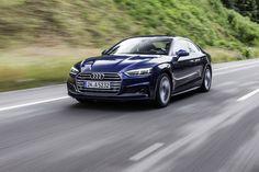 nouvelle audi a5 coupé bleu 2016 dynamique
