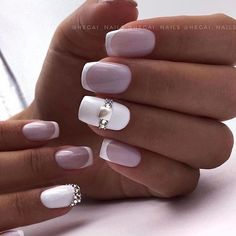 Wedding Nail Art : Three Chic Talons for a Stylish Bride – beauty warm Elegant Nail Designs, Elegant Nails, Toe Nail Designs, Stylish Nails, Cute Acrylic Nails, Cute Nail Art, Gel Nail Art, Bridal Nail Art, Wedding Nails Design