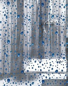 PVC Free Shower Curtain - Bubble Design - Contemporary - Shower Curtains - by Vita Futura - For upstairs bathroom.<--- Got it. Love it!