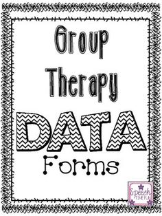 Are you looking for a quick and easy way to document data during group therapy sessions? Are you sick of using post-its, 5 different data forms at one time, or trying to remember the data to document later?Use these forms to help! Photocopy double sided or laminate and use a dry erase marker to reuse over and over.Use to document progress during group sessions, then transfer data onto students' individual data sheets later on.3 different types included: groups of 5, 3, and mixed.