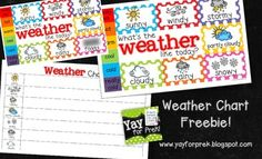 Freebie! Weather Chart for young children: Toddler - First Grade!