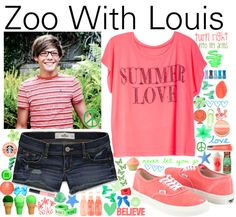 """Zoo With Louis- #033"" by onedirection-outfits ❤ liked on Polyvore"