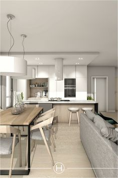 ✔ 26 living rooms perfect for relaxed entertaining 00008 Living Room Decor 2018, Interior Design Kitchen, Interior Design Living Room, Living Room Designs, Kitchen Decor, Living Rooms, Open Plan Kitchen Living Room, Apartment Design, Sweet Home