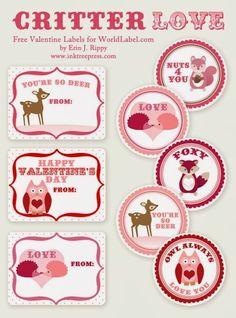 San Valentín: Etiquetas para Imprimir Gratis. | Ideas y material gratis para fiestas y celebraciones Oh My Fiesta!