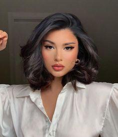 Beauty Makeup, Hair Makeup, Hair Beauty, Dewy Makeup, Hair Inspo, Hair Inspiration, Curly Hair Styles, Natural Hair Styles, Aesthetic Hair