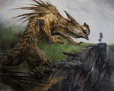 Glaurung and Nienor Artwork by Eric Velhagen