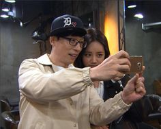 "Yoo Jae Suk Fanboys Girl's Day's Hyeri on ""Running Man"" Monday Couple, Yoo Jae Suk, Girl's Day Hyeri, Running Man, Girl Day, Behind The Scenes, Korea, Take That, Entertainment"