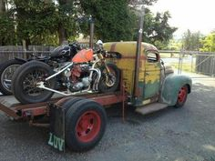 Bobbers and old trucks...What more do you want?