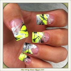 Nail Art by Lonnie Nguyen ~ the lady wanted something for the Casino that would stand out, I think it is very  Vegas baby!