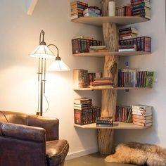 beautiful tree bookshelf I think I need one!!!  #forreadingaddicts #beautifulbookshelves #reading