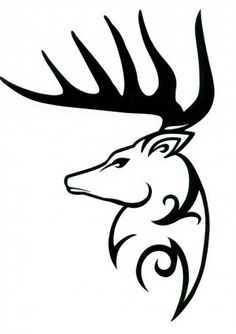 Tribal Deer decal