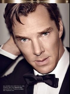 Benedict Cumberbatch in British GQ magazine-Actor of the Year