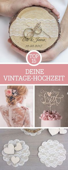 Get inspiration for your vintage wedding: We have 15 accessories, b . Get inspiration for your vintage wedding: We have put together 15 accessories, wedding dresses and wedding decorations t. Plan Your Wedding, Wedding Tips, Diy Wedding, Rustic Wedding, Wedding Planning, Wedding Favors And Gifts, Wedding Dress Accessories, Wedding Dresses, Bridal Gowns