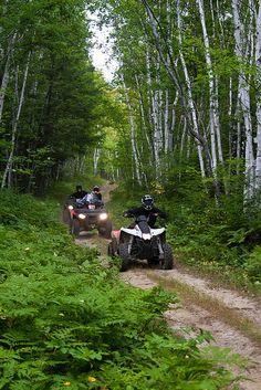 Exploring the Trails at Kugokami near Sudbury Ontario Canada on ATVs. Pinterest: pearlxoxoxo