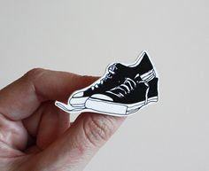 converse sneakers Etsy brooch by memorieswarehouse on Etsy