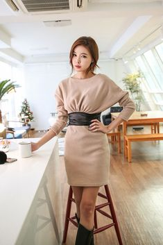 Stingray Leather Waist Dress
