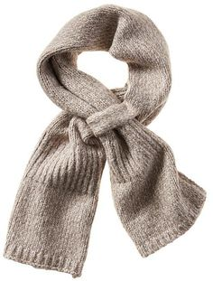 Knit Pull-Through Scarf from BR