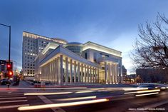 Ralph L. Carr Colorado Judicial Center in Denver, Colorado; designed by Fentress Architects