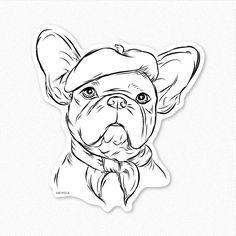 Pierre französische Bulldogge Aufkleber Sticker Dog von Inkopious