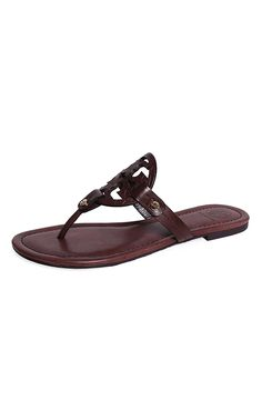 19a319bbc6e2 Tory Burch Miller Veg Leather Snake Print Sandal - Chocolate -- Click image  for more details.