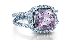 - 14K ROSE AMETHYST 3.20CTS AND DIAMOND .23CTS RING <br />$950 (SPRNG15156)