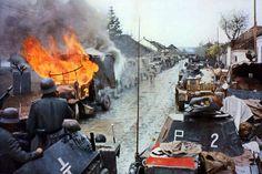 A German convoy in Nis, Yugoslavia (1941)