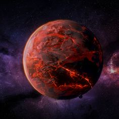A lava planet made with #Blender (based on a tutorial) #b3d #blender3d