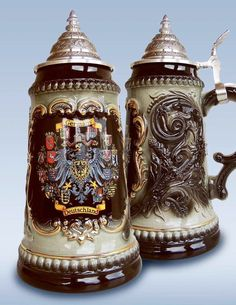 Jarra de cerveza alemana con los estados federados, 0,5 litros