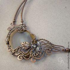 "Necklace beads handmade.  Fair Masters - handmade Necklace ""Forest Lake"".  Handmade."