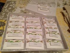 place cards.....
