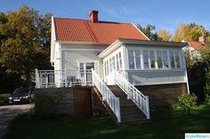 altan Porch And Terrace, Swedish House, House With Porch, Small Places, House Extensions, Next At Home, House Colors, Future House, Beautiful Homes